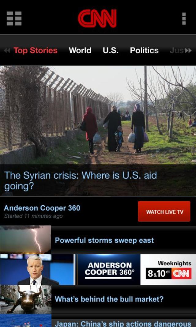 cnn直播_CNN在线新闻 v5.2 CNN在线新闻安卓下载_百分网安卓游戏