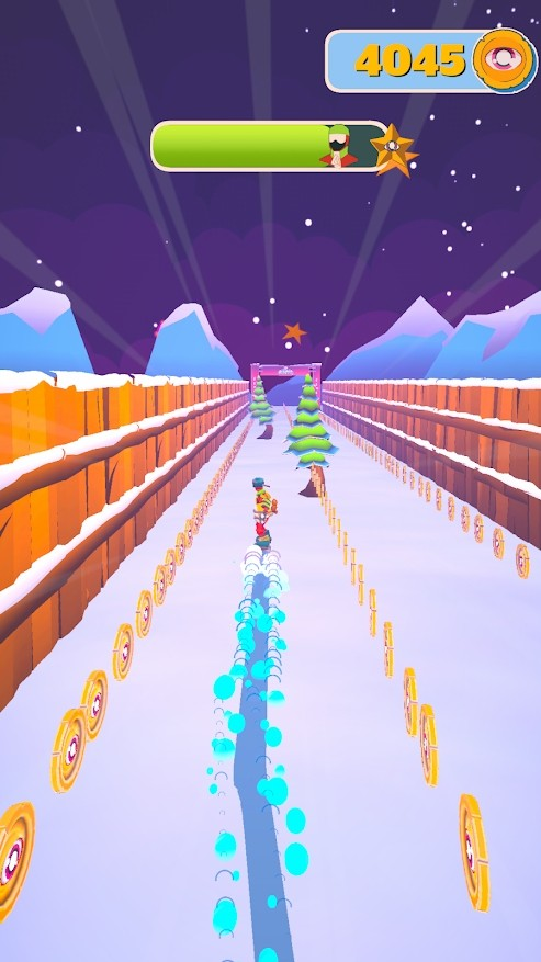 下雪:滑雪板大师3D游戏截图