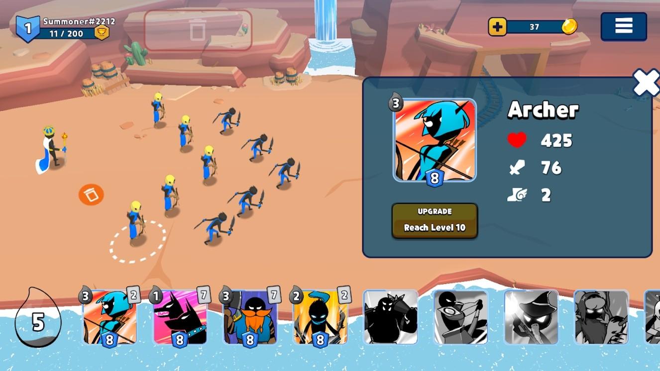 火柴人召唤者:竞技场 Mod游戏截图