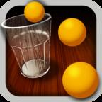 玻璃杯乒乓球