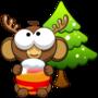 圣诞泡泡猴