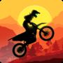 日落越野摩托车