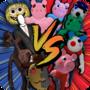 女妖头vs小猪:恐怖大战