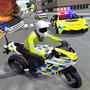 警车驾驶摩托车
