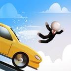 滑行:汽车蹦床跳跃