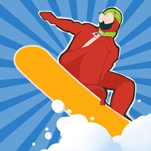 下雪:滑雪板大师3D图标